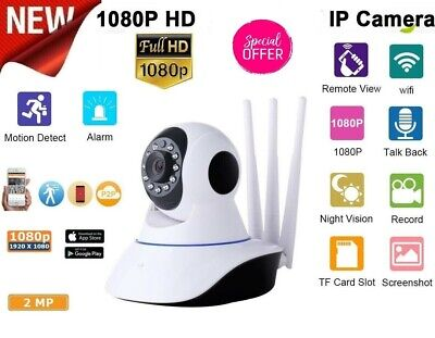 Telecamera Ip Cam Camera Hd 1080P Wireless Led 3 Antenne 2Mp Megap Ir Motorizza