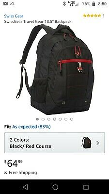 "SwissGear Travel Gear 18.5"" Laptop Backpack 6681 Business & Laptop Backpack NEW"
