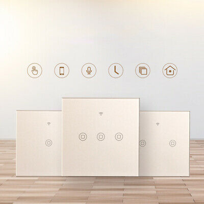 WIFI Smart Wall Light Touch Panel Switch Dimmer Timing Socket For Amazon Alexa