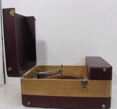 Vintage WEBCOR Record Player Turntable & Case ~ Model 104-a for Parts or Repair