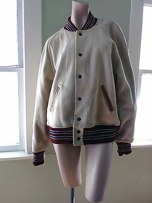 Vintage 1940s Wool Letterman Varsity Jacket Collegiate Zombie Band Sz 40 ISSUES