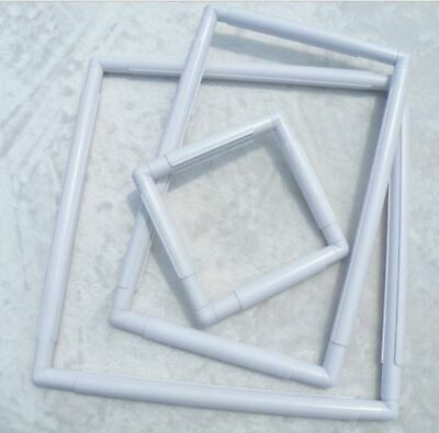 "Hand Held Cross Stitch Plastic Square Clip Frame Like Qsnap q-snap 6"" 8"" 11"" 17"""
