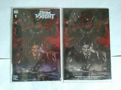 Batman Who Laughs Grim Knight 1 Lucio Parrillo Horror Variant Set Ltd 1,000 Coa
