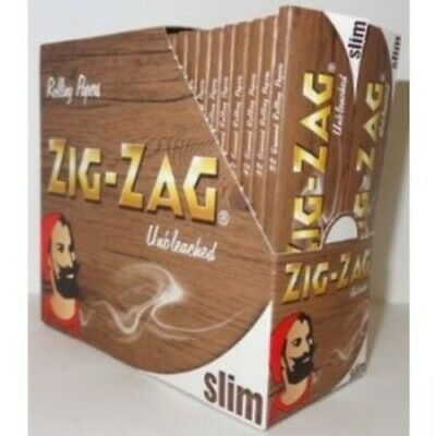 Zig Zag Unbleached Slim Rolling Papers - 50 Booklets