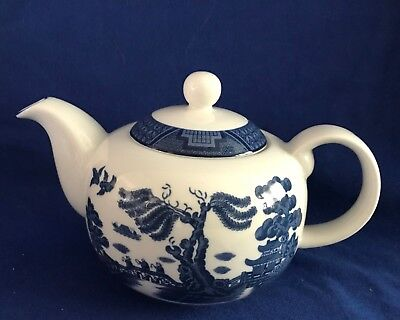 Royal Doulton Real Old Willow T.c.1266 Teapot 1998