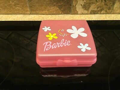Tupperware 670 Pink Barbie Sandwich Keeper Container EUC