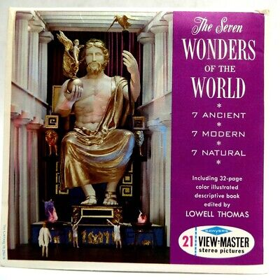 View-Master B901, Seven Wonders of the World, Ancient Modern Natural, 3 Reel Set