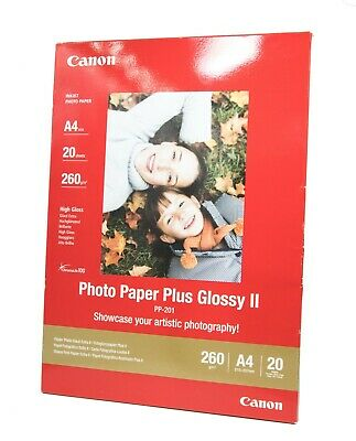 Genuine Canon PP-201 a4 Photo Paper Plus Glossy II 20 sheets