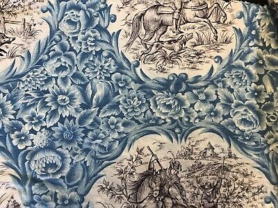 Stunning Vintage french Shabby Chic Cotton Floral Fabric 22/120cms