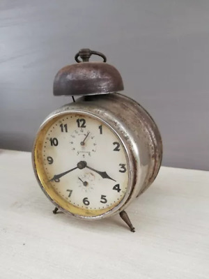 Vintage alarm clock Junghans with one bell Germany