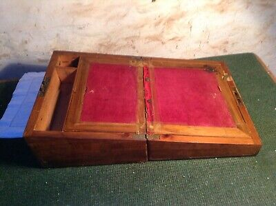 Vintage / Antique writing slope  wooden box  A/F for repair C8/331/B11