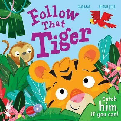 Follow That Tiger Large Kids Baby Toddler Boys Girls Picture Story Book Gift