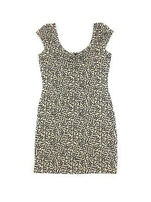 e516fca95232 H&M Divided Women's Size 8 Beige Black Stretch Sleeveless Fitted Key Print  Dress
