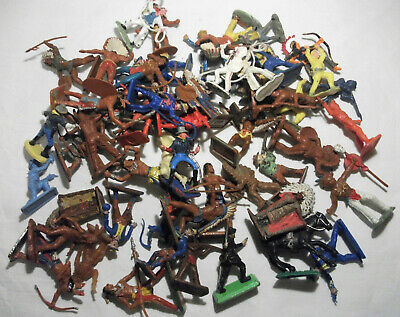 VINTAGE WILD WEST Toy Soldiers / Crescent - Kellog - Lone Star - Timpo Etc