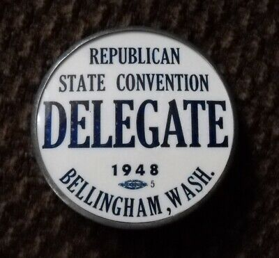 1948 Republican state convention pin