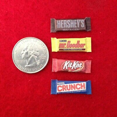 "1:6 scale handmade miniature for 11""-12"" doll - Set of 4 Candy bars"