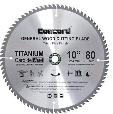 "Wood Blade For 10"" Dewalt DW717 DW713/Bosch/Delta/Hitachi Compound Miter Saw"