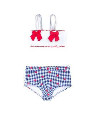 NWT Betsy Johnson Red White Blue Swimsuit Bikini Size 14 Girls 2 Piece RP $40