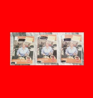 Vg Ex^lib 3 Dvd Set:marth Paula Deen's Home Cooking:bbq/Outdoor Food/Exc Treats!