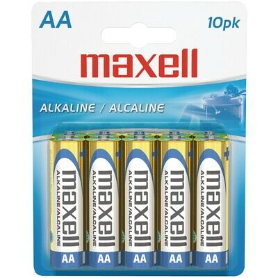 Maxell 723410 Alkaline Batteries Lr6 10Bp Aa Cell 10Pk