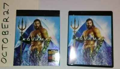 Complete 4K Ultra Hd Uhd + Blu-Ray + Digital Aquaman Dc + Slipcover Freeshipping