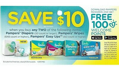 save $20 on PAMPERS 👶 Diapers Wipes Easy Ups Baby + Bonus [Canada]