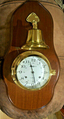 Howard Miller maritime ships Outside bell ringer clock working.