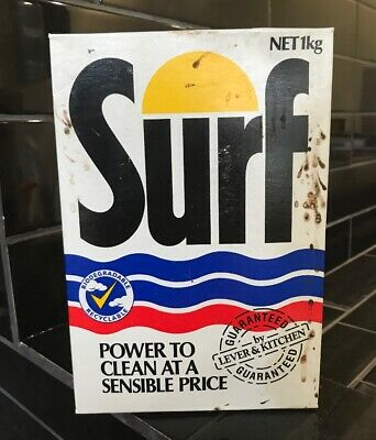 SURF Laundry Washing Powder Vintage Packaging Box With Contents Full