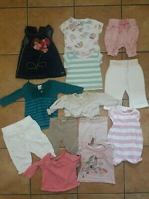 Next Bundle 6-9m Girls Pure White And Translucent Girls' Clothing (0-24 Months)