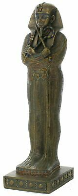 Bronze  Cold Cast Statue Of Egyptian King Tutankhamun's Sarcophagus 41cm new