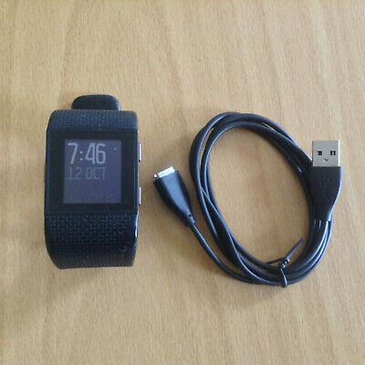 Fitbit Surge GPS Fitness Watch, Activity Tracker, Cardio, HR, Black, Large