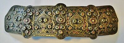 Museum Quality & Rarity Bulgarian 4-Part Copper Alloy Enamel Clasp Buckle 18Th C