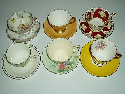 vintage lot of Teacups and saucers , FLAWED , Royal albert, Paragon , English