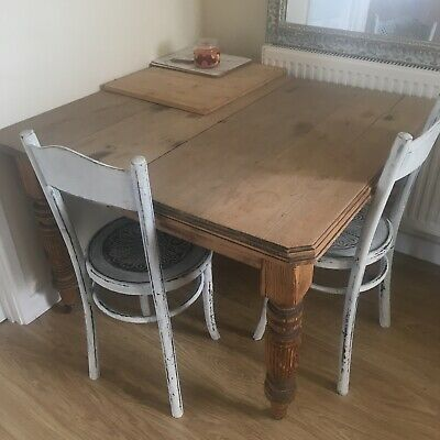 Gorgeous Vintage Victorian Entendable Dining Table With Winding Leaf Kitchen