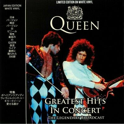 Queen - Greatest Hits In Concert Ltd Edition WHITE VINYL LP CPLVNY336