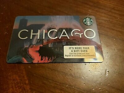 Starbucks Gift Cards ~ 2019 Chicago Buckingham Fountain ~ New/No Value