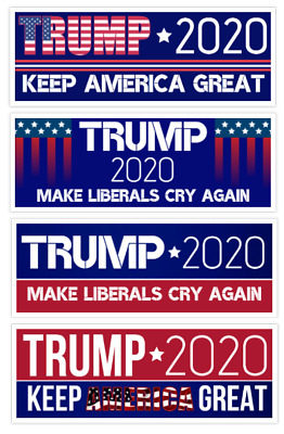 Donald Trump Bumper Sticker 2020 Make Liberals Cry Again Sticker Pack
