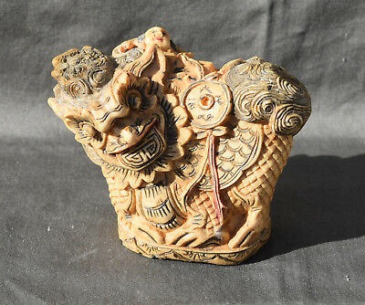 Antique Chinese Seal Bone Hand Carved dog fô chien de fô