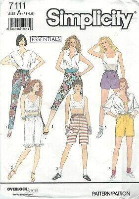 Simplicity 7111 Misses' Pants and Shorts 6 to 20 *Compare @ $8.99 Sewing Pattern