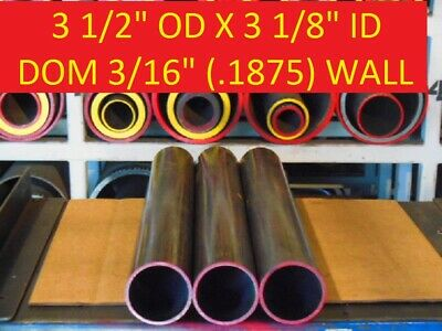 "E0294  Dom Round Steel Tube  3.500 Od  X   3.125 Id  (.187 Wall)   90"" Long"