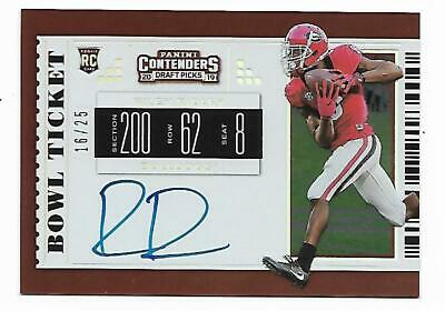 2019 Contenders Draft Picks Riley Ridley Autographed Bowl Ticket Rookie #16/25