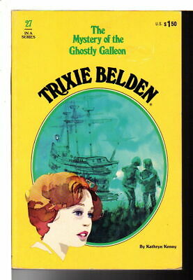 Kathryn Kenny TRIXIE BELDEN THE MYSTERY OF THE GHOSTLY GALLEON #27 Golden Press