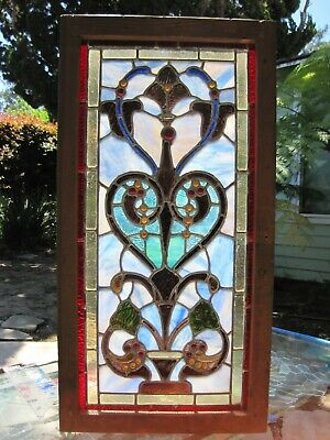 Antique American Stained Glass Window, Victorian Style, Architectural Salvage