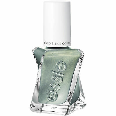 essie gel couture nail polish, spellbound, green metallic nail polish, 0.46  oz