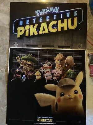 Game Stop Exclusive Pokemon Detective Pikachu Double Sided Promo Poster