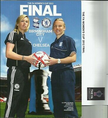 26.5.2012 BIRMINGHAM CITY v CHELSEA, FA Cup Final + Teamsheet!