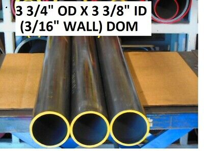 "E0333 Dom Round Steel Tube  3.750 Od  X   3.375 Id  (.187 Wall)   16""  Long"
