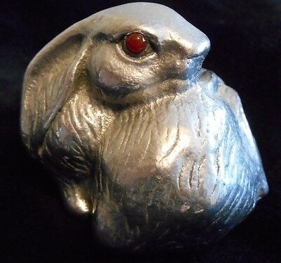 1992 Arthur Court Bunny Rabbit Paperweight w/ Red Eyes - Item # 6 - 118