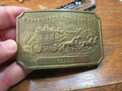 Wells Fargo & Co Company Bank Stage Coach Belt Buckle  Tiffany & Co Texas (19E1)