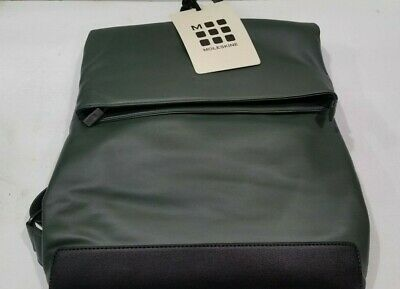 38ffb5d14 NWT Moleskine Classic Foldover Backpack Myrtle Green & Black Business  Laptop NEW